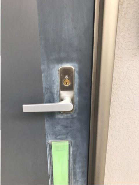 ウエスト(WEST)錠前・シリンダー新規交換 室外側