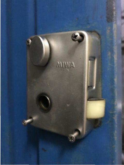 MIWA U9PMK鍵交換作業工程1